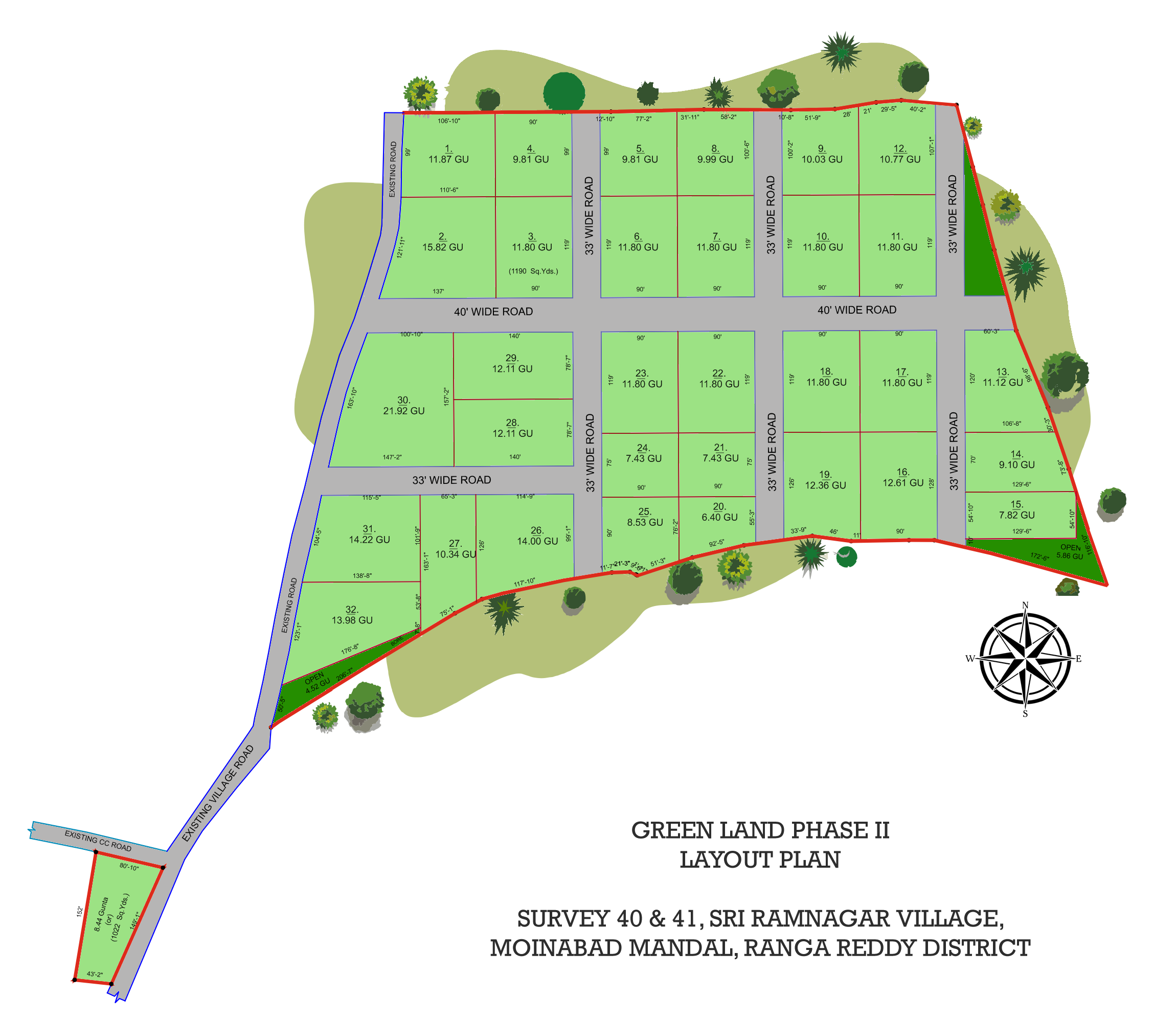 Green Land the best agriculture land for sale in Hyderabad